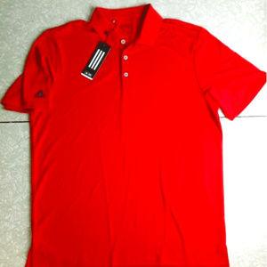 adidas Golf adiperform Red Polo Shirt UPF 30